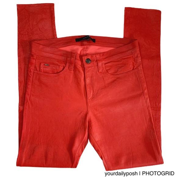 Joe's Jeans High rise The Skinny red lamb pants 27